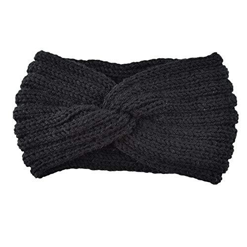 FiedFikt Klassieke vrouwen Gebreide Hoofdband Gehaakte Winter Warmer Lady Haarband Gehaakte Knitwear Haarband Hoofddoek