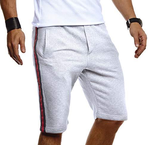Leif Nelson korte herenbroek voor zomer, slim fit, herenshorts, korte joggingbroek, zomer, korte broek voor vrije tijd, sport, fitness, training, cargo, bermuda LN92570