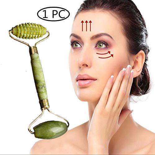 Jade Roller Gesichtsroller Jaderoller Gesicht Echte Jade Massagegerät Massage Roller Facial Massager Gua Sha Board Body Derma Roller Ragbare Facelifting