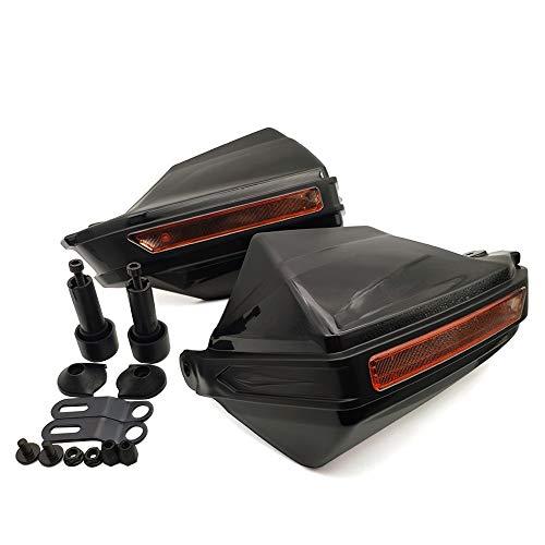 HYSJLS 1pair Universal Motorcycle Many Guard Shield Protector de motocros a Prueba de Viento para Honda NC 750X NC700S NC700X NC 700S 700 x Paramanos de Motocicleta (Color : Black)