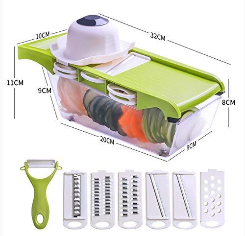 Reibe Chopper Küche Multifunktionshandbuch Haushalt Haushalt Kartoffelschnitzel Kartoffelschnitzel Geschnittenes Gemüse Grün