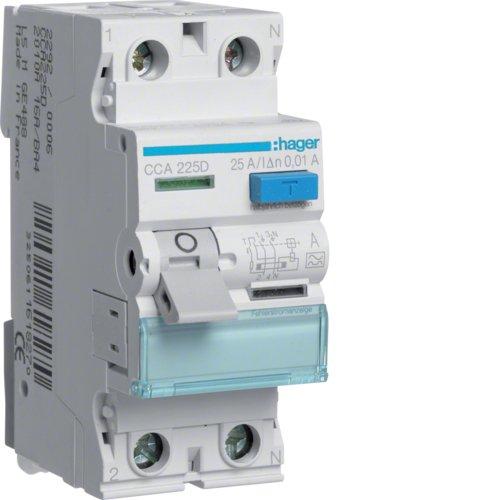 Hager CCA225D FI-Schalter 25A 10mA A-Typ 2-polig