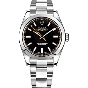 Fashion Shopping Rolex Milgauss Black Dial 40mm Men's Watch 116400-BLKSDO