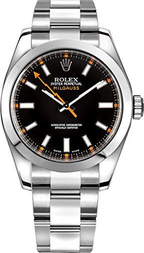 Fashion Shopping Rolex Milgauss Black Dial 40mm Men's Watch 116400-BLKSDO