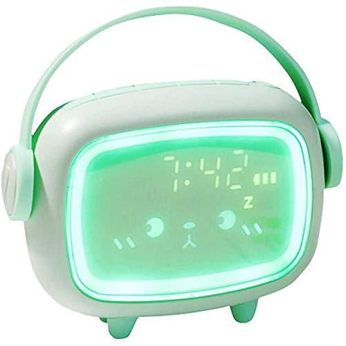 TUIHJA Reloj Despertador Digital, Reloj Despertador, Luz Nocturna con RepeticióN Led, Temperatura de Cuenta Regresiva con Calendario de Fecha de Carga USB, para Viajes de Oficina en el Hogar