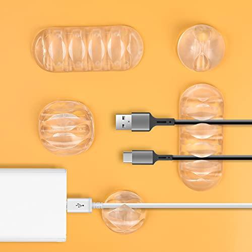 URAQT Organizador Clip de Cable, 20PCS Sistema de Gestión de Cable, Organizador...