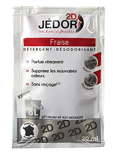 dosette 2D détergent nettoyant désodorisant - Jédor - Parfum fraise (200 dosettes)