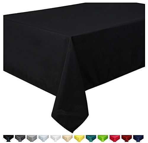 Mantel 100% poliéster, rectangular 150 x 250cm Negro