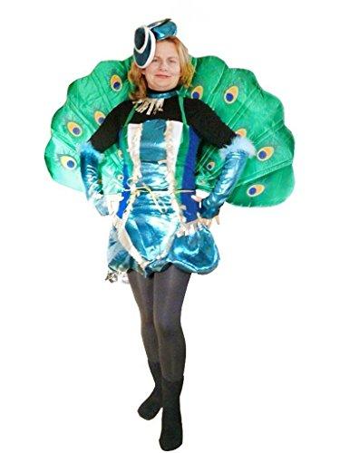 Seruna Pfau-Kostüm, To53/00 Gr. M-L, Pfau-Faschingskostüme für Männer und Frauen, Pfau-Faschingskostüm, für Fasching Karneval Fasnacht, Karnevals-Kostüme, Faschings-Kostüme, Geburtstags-Geschenk