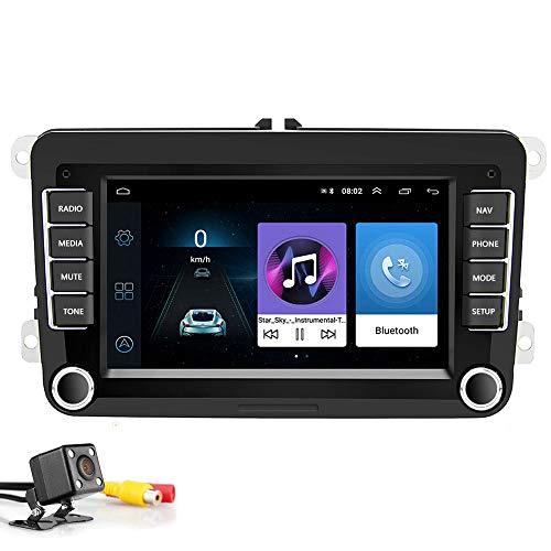"Radio de Coche 2 DIN 7""Android 8.1 Reproductor Multimedia de Coche Estéreo de Coche WiFi Navegación GPS Autoradio para Skoda V/W Passat B6 Polo Golf"