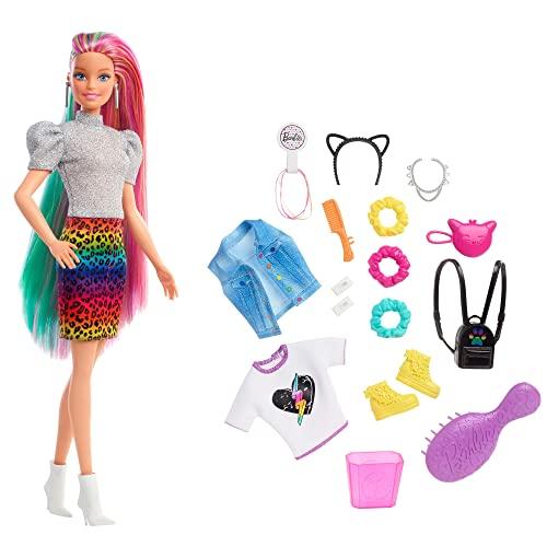 barbie Barbie - Bambola Bionda con Capelli Arcobaleno