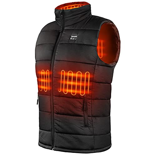 Upgraded Lightweight Heated Vest for Men/Women - Rechargeable Heating Vest with 10000mAh Large Capacity Battery Pack (Large, l)