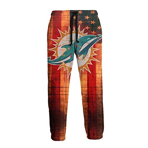 Pants Mens Fashion Athletie Pants Mi-Ami Do-Lphin Casual Joggers Streetwear Slim Fit Trousers Long Pants,Hip Hop Premium Slim Fit Track Pants - Athletic Jogger Bottom for Outdoor XL