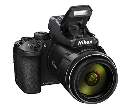 Nikon Coolpix P950 Fotocamera Digitale, Sensore CMOS 16,79 MP, Zoom ottico 83X, filmati 4K, LCD a angolazione variabile, mirino elettronico OLED, WiFi, Bluetooth, Nero [Nital Card: 4 Anni di Garanzia]