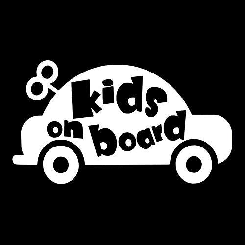 Tragbarer Treteimer abnehmbare Deckel Ist Car-Styling lustiger Aufkleber BABY KIDS ON BOARD Autoautoaufkleber Abziehbild-Auto-Styling Dekoration Türkörper-Fenster-Vinylaufkleber Hanging Abfalleimer Kl