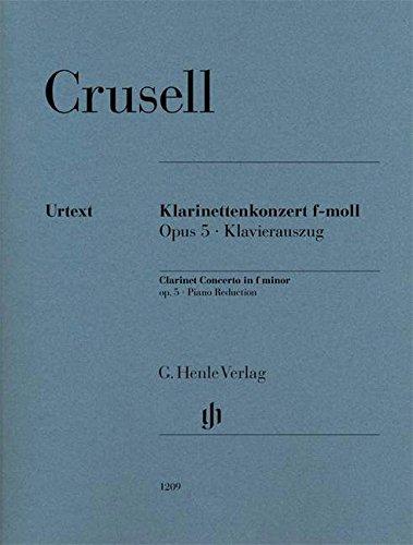 Klarinettenkonzert f-moll op. 5: Klavierauszug