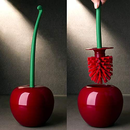 Product Image of the BlossomingLove Cherry Shaped Long Handle Toilet Curved Brush for Deep Cleaning