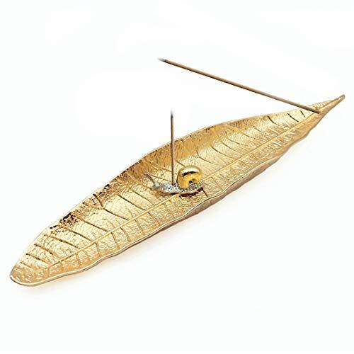 EQLEF Räucherstäbchenhalter Ash Catcher, Natural World Lange Räuchergefäß mit Schnecke Räucherstäbchenhalter Wohnkultur Zubehör (Gold)