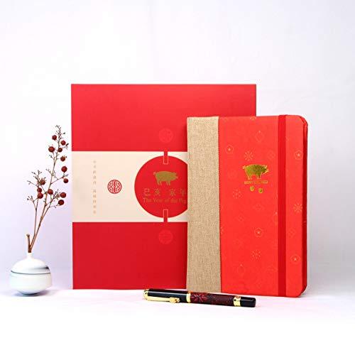 CXYBJB Notizbuch Silk Notizbuch Gesetzt Kreative Sitzung Werbegeschenke Chinesische Farbe Geschenke