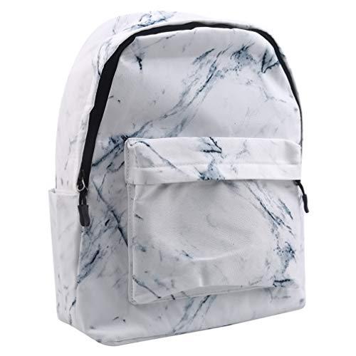 Toporchid Marbling Bookbag Schüler Rucksack für Travel Girls Boys (Weiß)