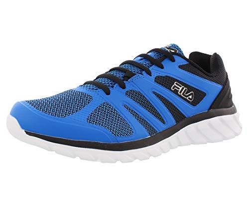 Fila Memory-Cryptonic-3 - Zapatillas de running para hombre (espuma viscoelástica), Azul (Eble/Black/Metallic Silver), 46 EU
