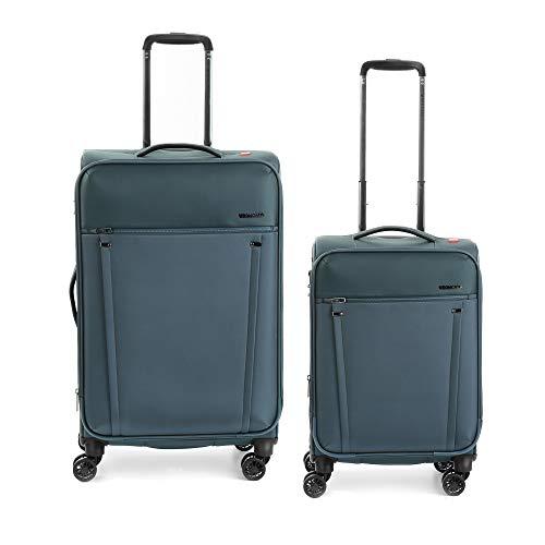 RONCATO Zero Gravity Set 2 maletas blandas extensibles (medio + cabina) 4 ruedas Tsa Azul