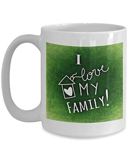 Día de los padres | Taza de cerámica - Love Family - Adición de vasos o decoración del hogar para celebrar el día mundial de los padres - Regalos para reconocer a todos los adultos que crían a