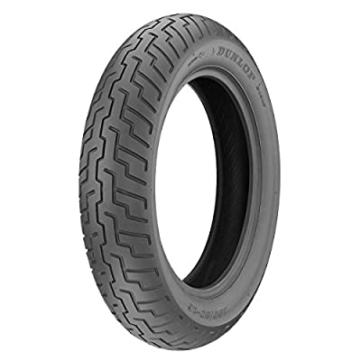 Dunlop D404 Front Motorcycle Tire 100/90-19 (57H) Black Wall - Fits: BMW F650 1997-1999