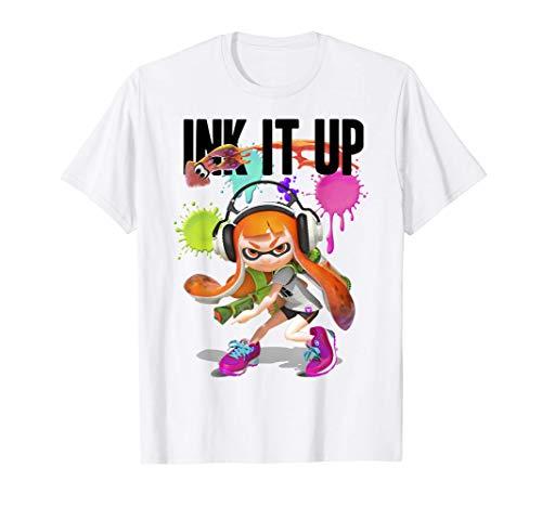 Splatoon Ink It Up Squid Inkling Splatter Poster T-Shirt