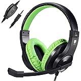 Samoleus Cuffie Gaming con Microfono, Cuffia Stereo con Cavo, Cuffie da Gaming per Xbox One, PS4, Nintendo Switch, Mobile Phone, PC (Verde - Xbox One)