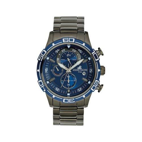Adora Herren Chronograph Quarz Uhr mit Edelstahl Armband AN2131
