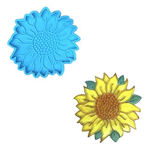 Urisgo Molde de Silicona, Posavasos 3D, Molde de Silicona Antiadherente con Forma de Flor, fácil de Limpiar para Manualidades de Bricolaje, decoración de la Mesa del hogar