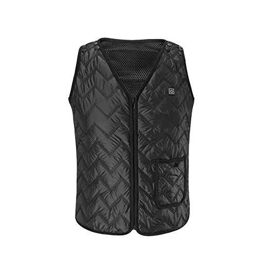 Heated Vest, Heating Electric Vest USB Charging Cold-Proof Heating Clothes Washable (Battery Not Included)(L-3XL)