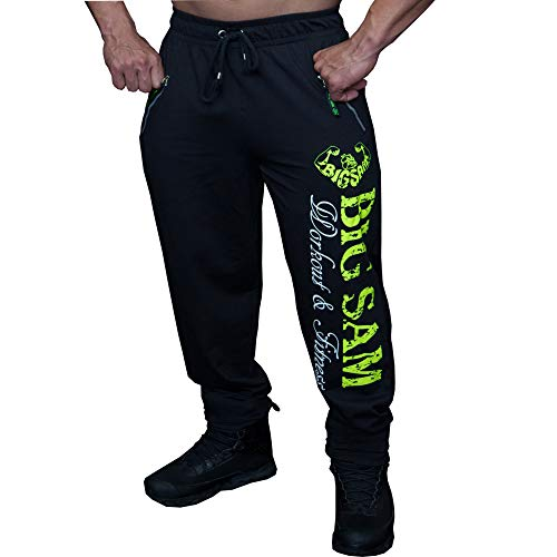 BIG SM EXTREME SPORTSWEAR Hombre Pantalones de Deporte de Culturismo de chándal Bodybuilding 1091 L