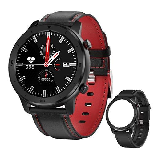 GT FEELINGS Smartwatch, Reloj Inteligente Fitness Hombres Mujeres Niños Impermeable Pulsómetros Podómetro Caloría Pulsera de Actividad Reloj Deportivo para Android iOS (Negro Rojo)