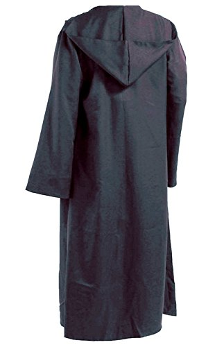 Men Hooded Robe Cloak Knight Fancy Cool Cosplay Costume