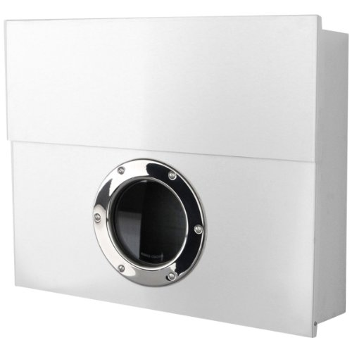 Radius - Briefkasten - Postkasten - Letterman XXL - Stahl pulverbeschichtet - Weiß - 50 x 43 x 14 cm
