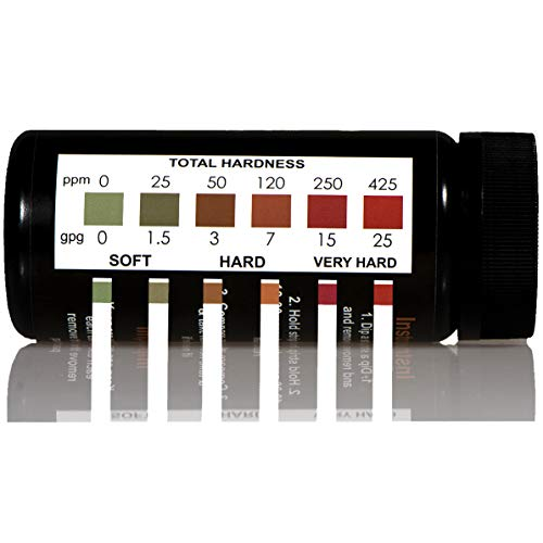 JNW Direct Water Total Hardness Test Strips, 150 Strip MEGA Pack, Best Kit for Accurate Water Quality Testing to Determine Soft or Hard Water, Free App & Ebook Included