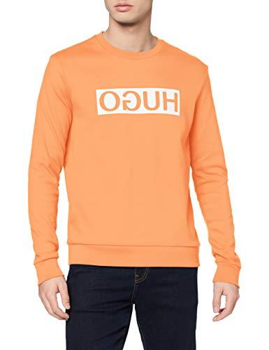 HUGO Herren Dicago202 Sweatshirt, Orange (Light/Pastel Orange 830), Medium (Herstellergröße: M)