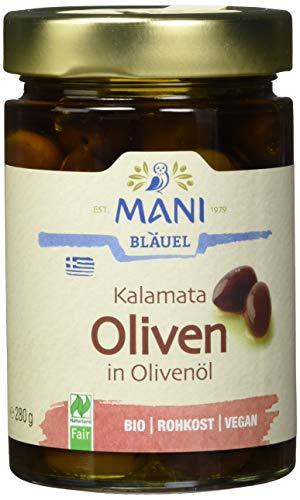MANI Kalamata Oliven in Olivenöl, bio, 2er Pack (2 x 280 g)