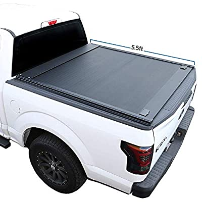 "Syneticusa Aluminum Retractable Low Profile Waterproof Tonneau Cover for 2004-2021 F-150 F150 5.5' 5'6"" Short Truck Bed"
