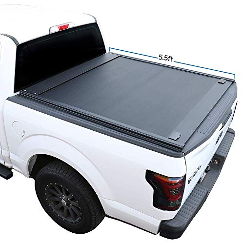 Syneticusa Aluminum Retractable Low Profile Waterproof Tonneau Cover for 2004-2021 F-150 F150 5.5'...