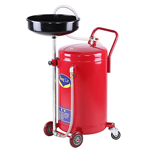 GOTOTOP Ölauffanggerät,Ölauffangwannen 80 Liter 17,5 Gallone Portable Auto Altölablass Tank Air Drainer Drainage-Sammler