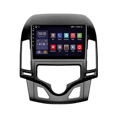 IF.HLMF Autoradio Stereo 9.1 Pollici Lettore MP5 Android 8.1 Compatibile per Hyundai i30 (2006-2011), Touch Screen GPS 2.5D, BT, WiFi, Collegamento Specchio, sintonizzatore Radio (RAM 1G + Rom 16G)