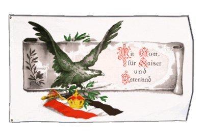 Flagge Deutsches Reich Mit Gott für Kaiser und Vaterland - 90 x 150 cm