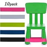 10 Stücke Fidget Bänder Flexibler Sitzwiderstand Stuhl Bänder Schreibtisch Gummibänder für...