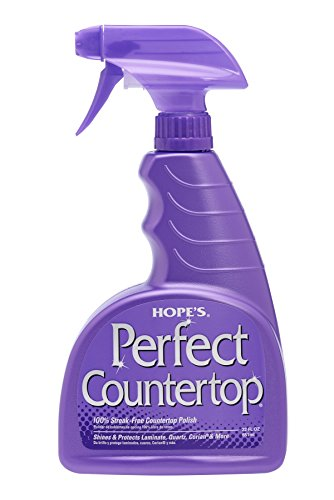 HOPE'S Hope's Perfect Countertop Cleaner and Polish, 22-Ounce, Streak-Free, Multi-Surface cleaning spray, Safe on stone sealant, laminate, CORIAN, granite, quartz, marble, stone, and more
