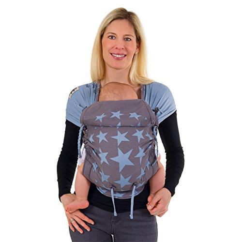 Hoppediz® Hop-Tye - Mochila portabebés con guía de uso [español no garantizado] azul Los Angeles bleu