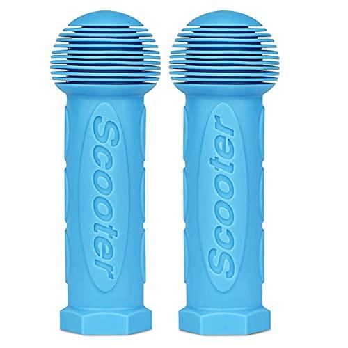 MUKEZON Un par de empuñaduras de repuesto perfectas para mini o Maxi Micro Scooter (azul)