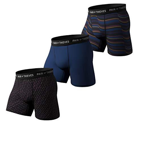 Pair of Thieves Super Fit Herren Boxershorts 3er Pack Unterwäsche AMZ Exclusive - Rot - Medium